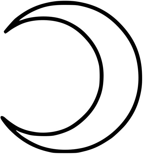 Crescent Moon Coloring Page crecent moon coloring pages