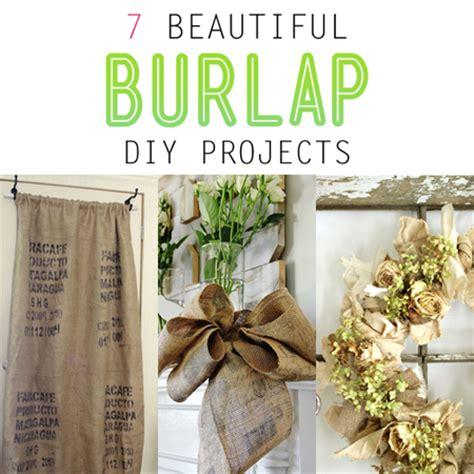 burlap diy projects 7 beautiful burlap diy projects the cottage market