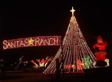 christmas tree cutting ranch near san antonio gallery displays at santa s ranch new braunfels tx