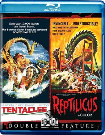 tentacle / reptilicus (blu ray) (2015) shout factory