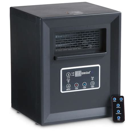 Small Heater With Remote Guide Gear Compact Infrared Portable Space Heater With