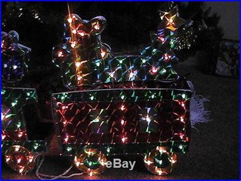 holographic christmas decorations holographic 3d 25 lighted display motion wheel smoke 4 car