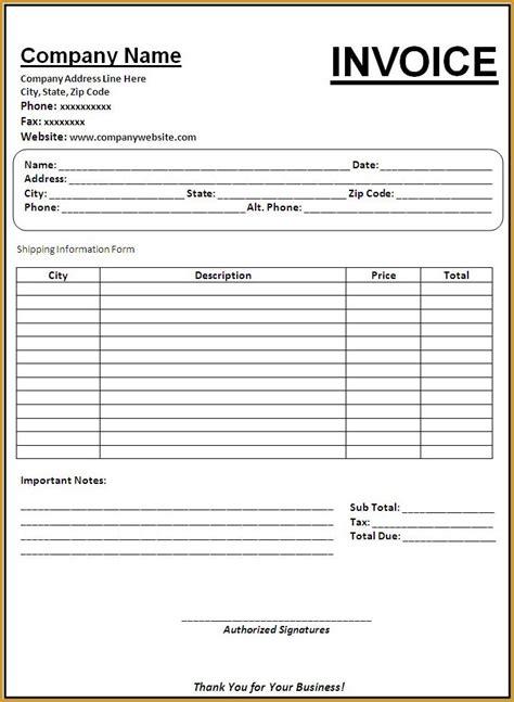 Invoice template word processor hardhost info
