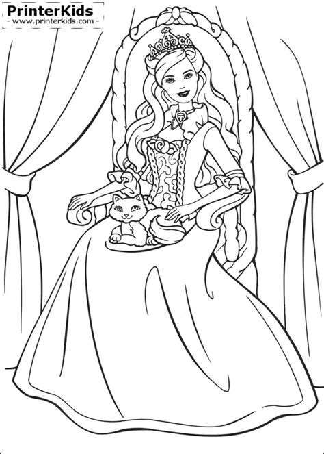 coloring pages of princess barbie barbie princess coloring pages com coloring pages