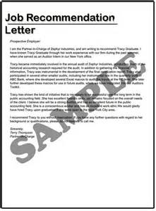 recommendation letter example job cover letter templates