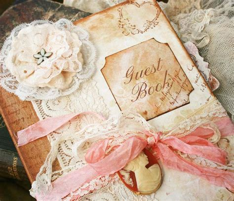 custom vintage style guest book for wedding vintage shabby chic 150 pages on luulla
