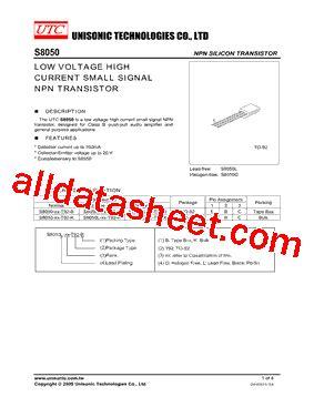 transistor s8050 datasheet pdf s8050 datasheet pdf unisonic technologies