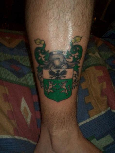 family tattoo leg family crest tattoo images designs