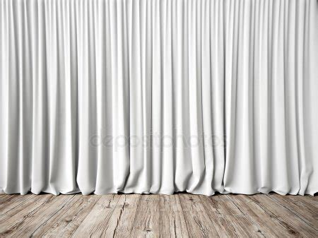 Stage with white curtains ? Stock Photo © kantver #27036043