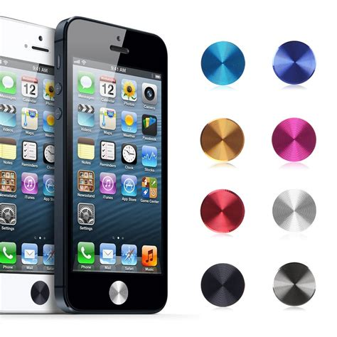 Rounded 360 Gor Iphone 4 4s 5 5s 6 2pcs metal home button key sticker for iphone 4 4s 5 5s 5c 6 4 7 plus 5 5 quot ebay