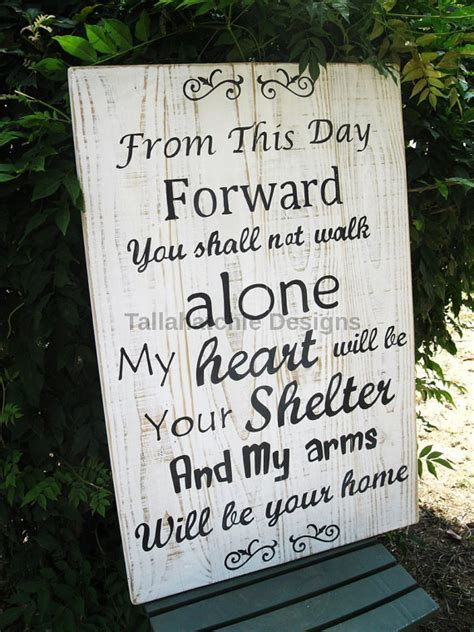 Wedding Quotes Signs by Wedding Sign Large Wood Wedding Quote Sign From This Day