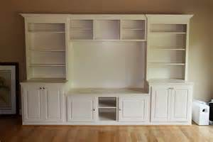 diy built in tv cabinet bloombety built in entertainment center with white color