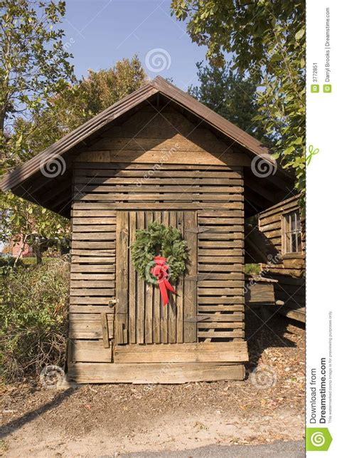 christmas shack stock image image 3772851