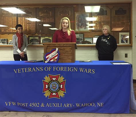 Voice Of Democracy Essay Contest 2017 by Wahoo Schools Whs Jr Mitchell Takes 1st