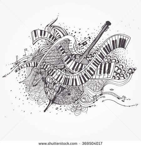 a pattern of notes used in indian music indian musical instruments stock images royalty free