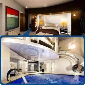 cool bedroom with swimming pool cool