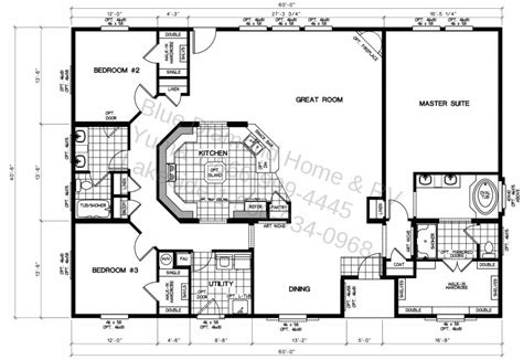 large modular home floor plans triple wide mobile home floor plans factory homes