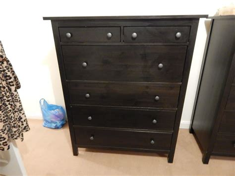 hemnes 5 drawer chest black brown ikea hemnes 6 drawer chest of drawers in black brown