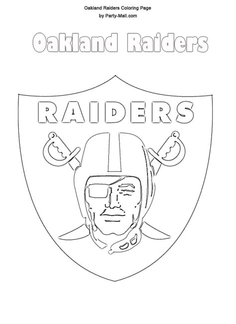 Oakland Raiders Coloring Pages oakland raiders logo free oakland raiders coloring page