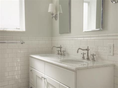 tile borders bathrooms ideas white glass tile bathroom white subway tile bathroom