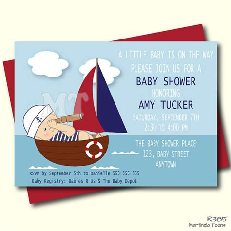 Nautical Baby Shower Invites by Nautical Baby Shower Invitation Nautical Baby Shower Theme