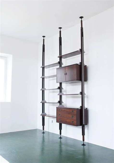 floor to ceiling bookshelf floor to ceiling rosewood bookshelf or wall unit by