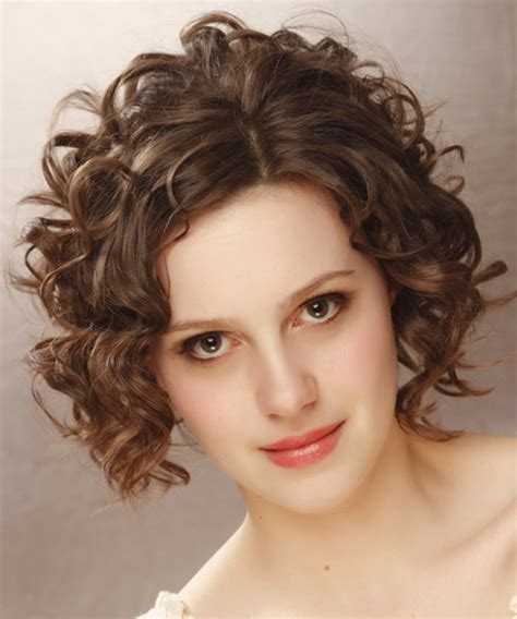 Brunette Curly Hairstyles | short curly formal hairstyle medium brunette
