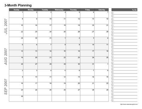 Printable 3 Month Calendar   CalendarsQuick
