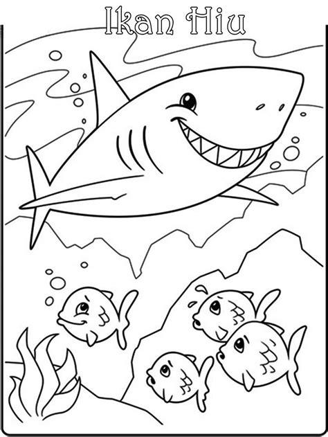 Sketsa Mewarnai Gambar Ikan | Mewarnai cerita terbaru lucu