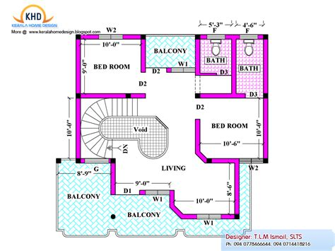 House Plans Home Plan And Elevation 2080 Sq Ft Home Appliance