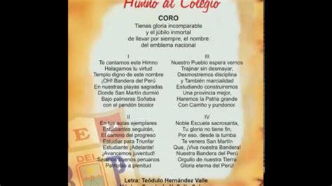 letra de cancion banderita banderita peru himno de la i e bandera del per 218 de pisco youtube