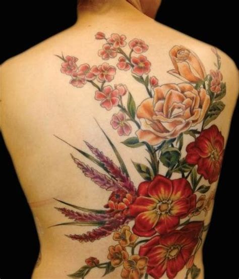 orange tattoo and orange flowers