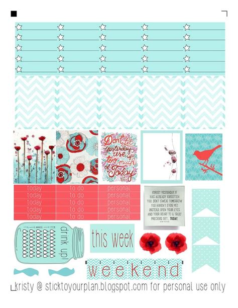 free printable stickers for erin condren life planner stick to your plan free printable for personal use only