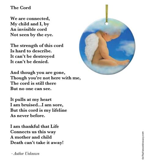 words of comfort for loss of unborn baby when you lose a child on the fence