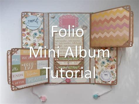 scrapbook albums tutorial mother s day folio mini album tutorial video tutorials