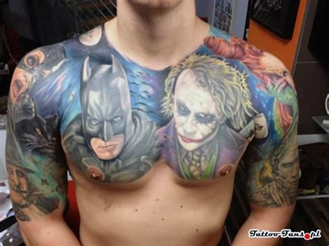 batman tattoo on chest 17 joker tattoo designs ideas pictures and images