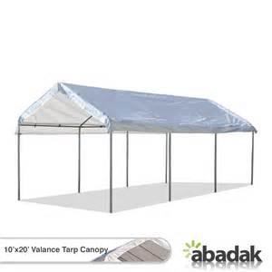 Tarp Canopies by 10 X 20 Tarp Tent Canopy With Valance Top Tarpsplus Com