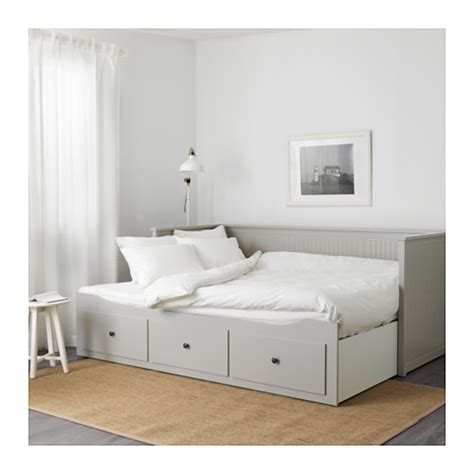 ikea day bed hemnes day bed frame with 3 drawers grey 80x200 cm ikea