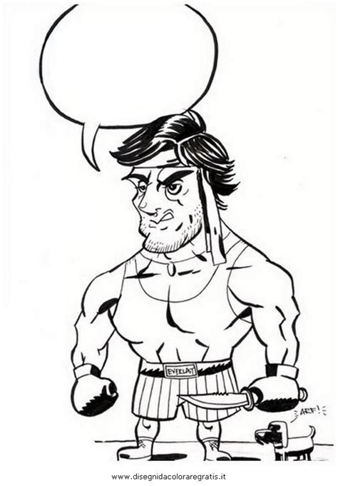 rocky colouring pages