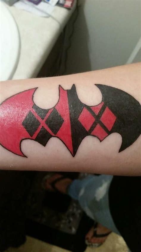 batman harley tattoo bat quinn symbol harley quinn pinterest tattoo
