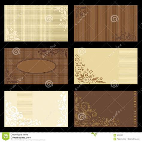 Brown Card Template by Business Cards Templates And Brown Stock Image