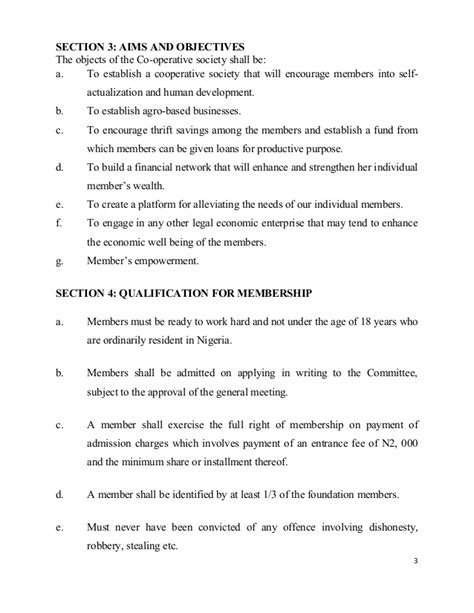 constitution of cashville multi purpose cooperative