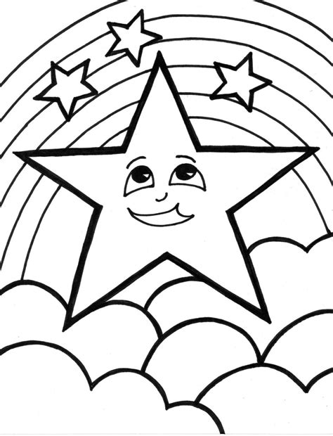 Star Coloring Pages Coloring Pages To Print Coloring Paper To Print