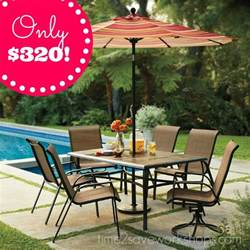 kohl s sonoma patio furniture set almost 70