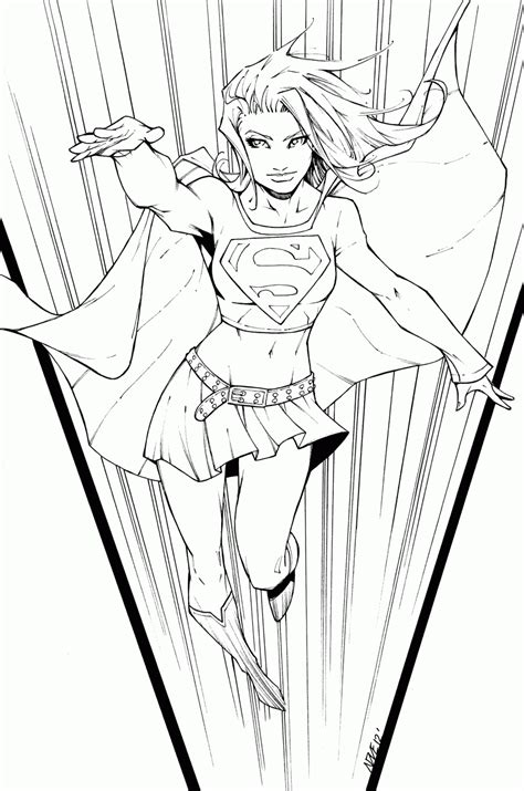 Supergirl Coloring Page Az Coloring Pages Supergirl Coloring Pages For Printable Free