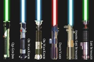 different colored lightsabers wars what are all the known lightsaber designs