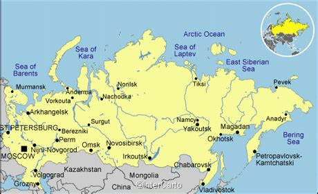 russian cities map major cities russia images