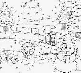 Snow Village Christmas Coloring Pages Sketch Page sketch template