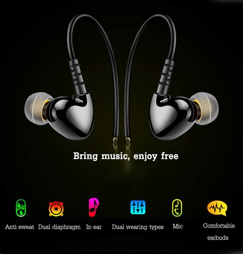 Earphone Earset In Ear Hifi Bass Waterproof Fonge With Mic fonge f1 sport in ear hifi impermeabile ipx5 auricolare cuffia con mic vendita banggood