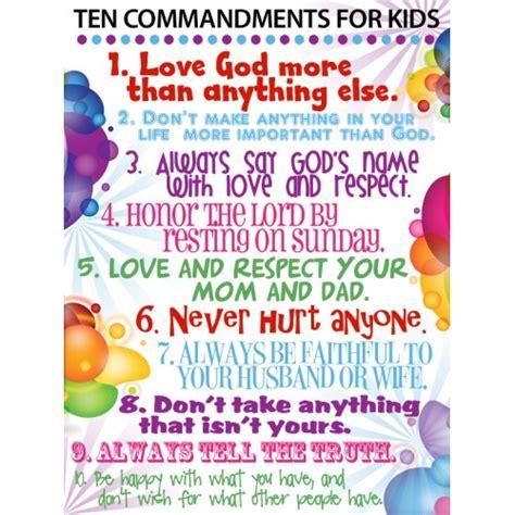 printable version ten commandments catholic catholic 10 commandments for kids google search